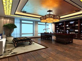 中式办公室设计案例