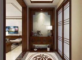 天山熙湖159㎡三居室新中式设计