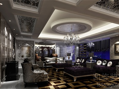 欧式客厅非常需要用家具和软装饰来营造整体效果。深色