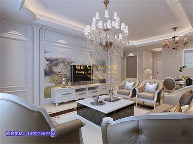 简欧风格讲究的是奢华而不奢靡,贵气而不张扬,简化的