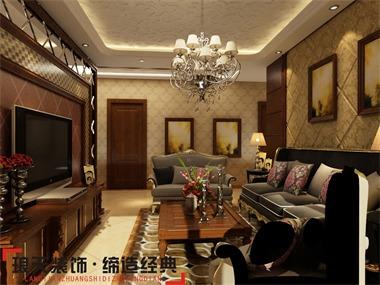 这是一款很贵族气息的房屋设计,房间内设的有开阔的过