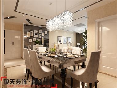 本案的设计效果以现代简约为主。开放式厨房的设计,内