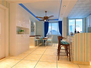 本案的灵感来源于西班牙蔚蓝色的海岸与白色沙滩。当希