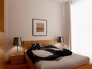 在家具配置上,白亮光系列家具,独特的光泽使家具倍感