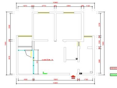 本案设计在满足空间功能需求的前提下,运用木线条与石