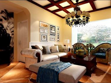 125品美式风格装修效果图客厅