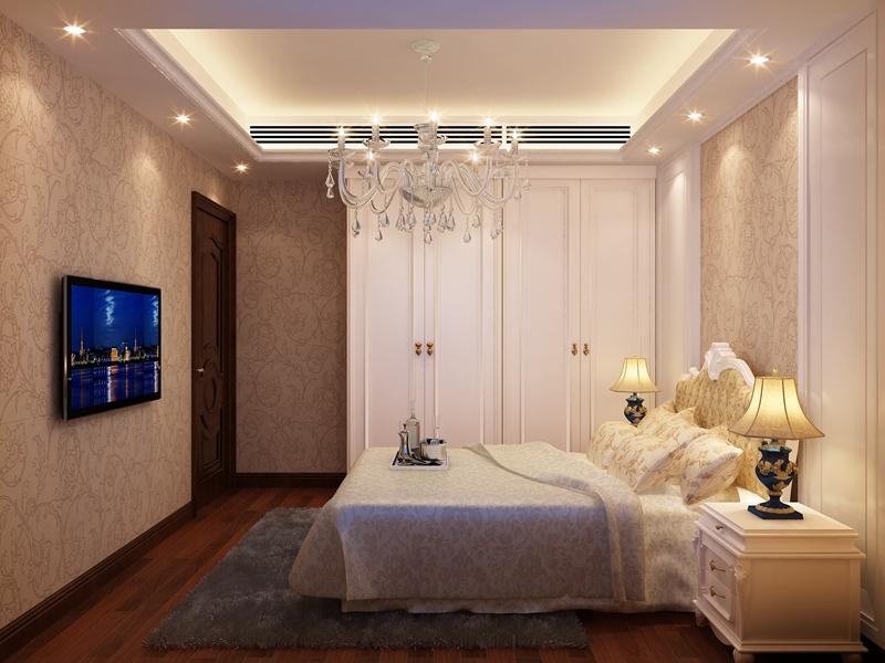 简欧卧室背景墙效果图