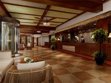 石塘竹海度假酒店大厅