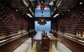 中式酒窖酒柜效果图
