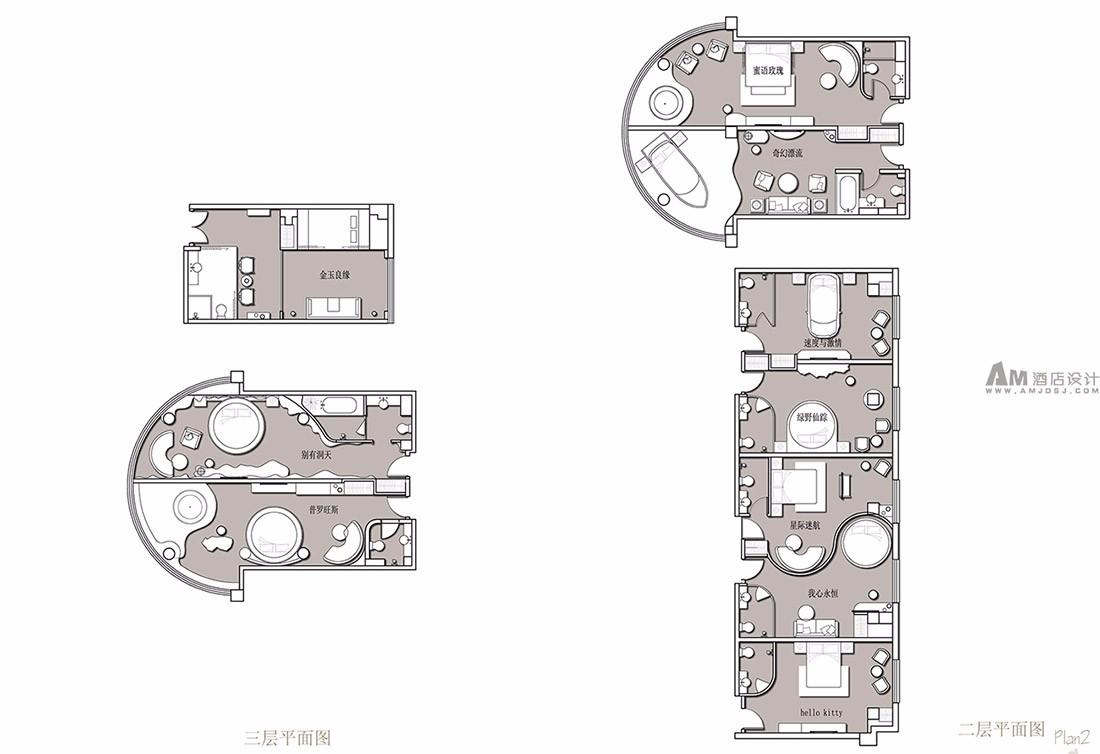 酒店平面设计效果图