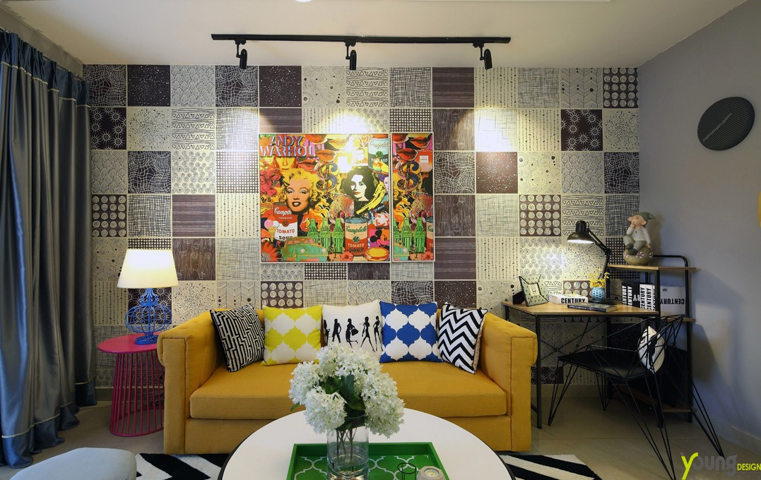 其它客厅背景墙实景图