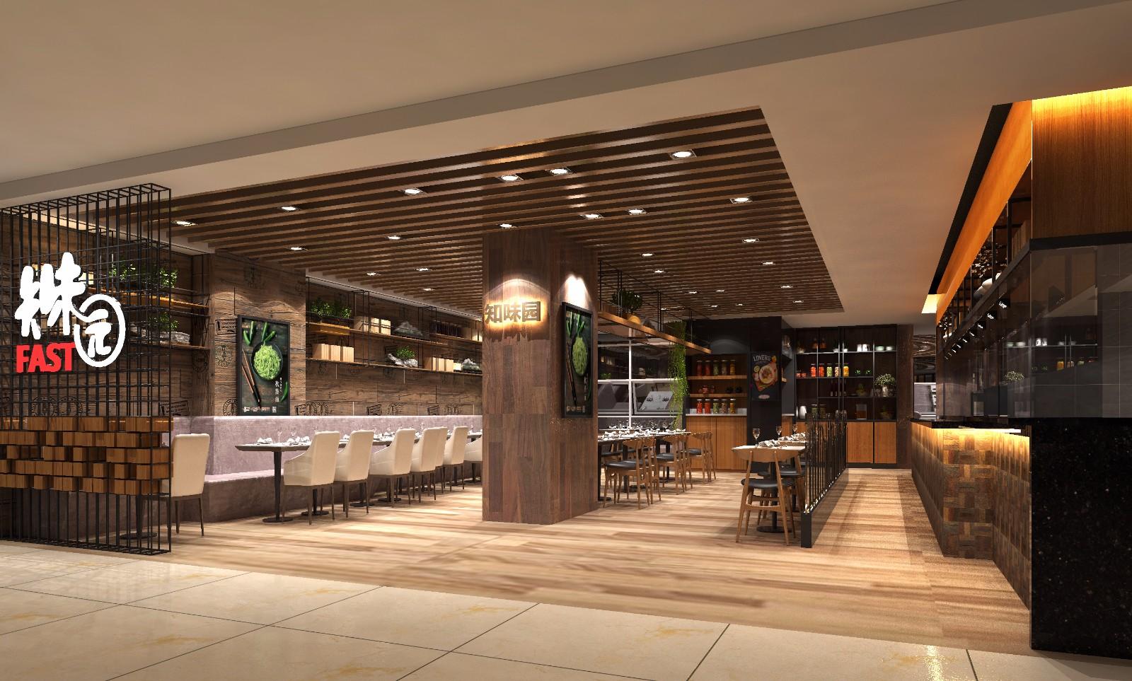 餐厅餐位区效果图