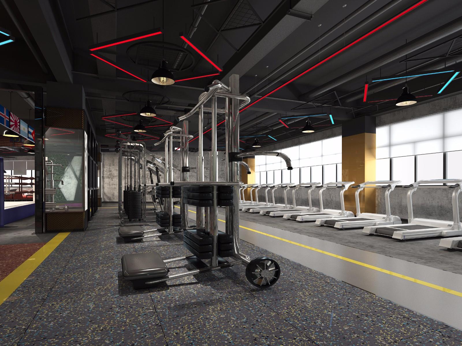 俱乐部健身房效果图