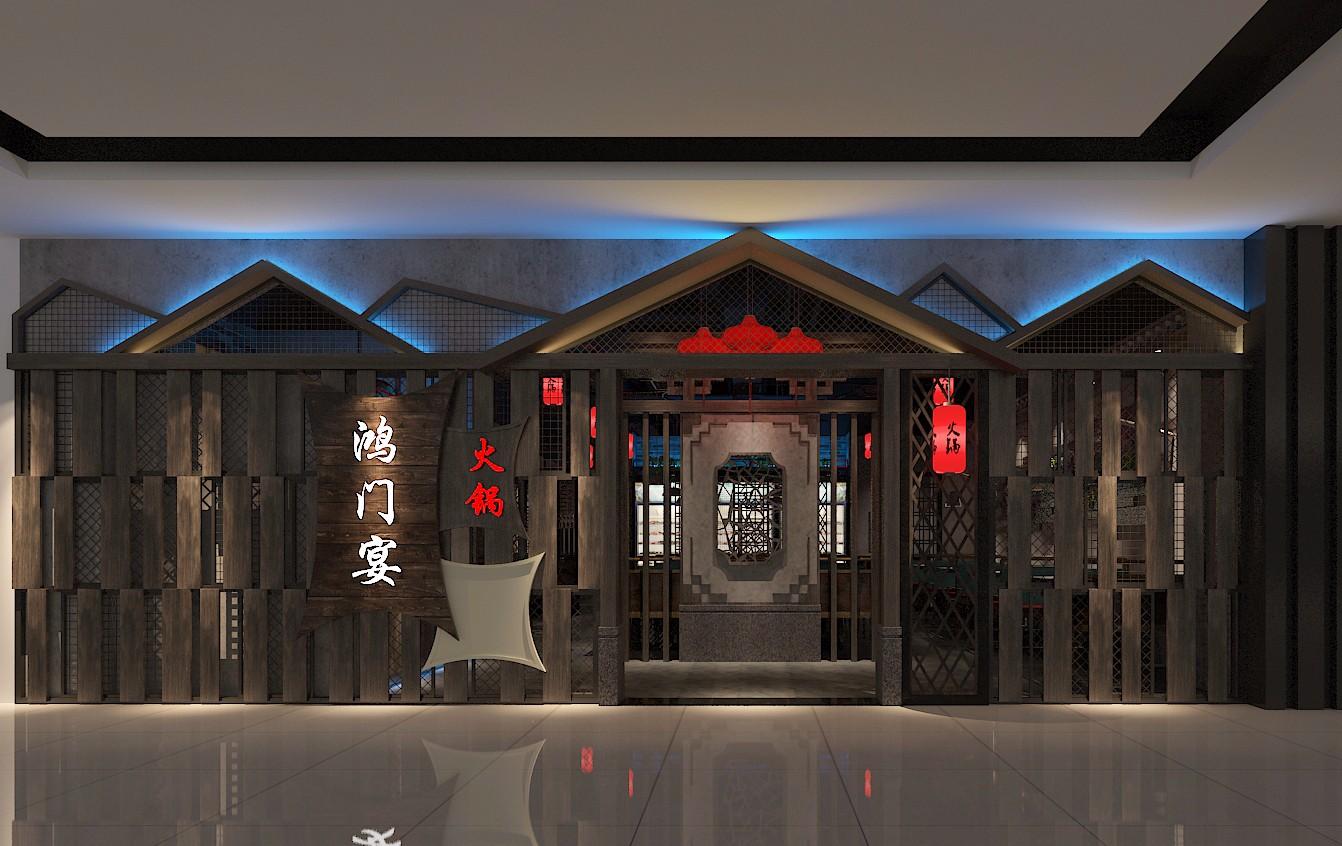 餐厅门头效果图