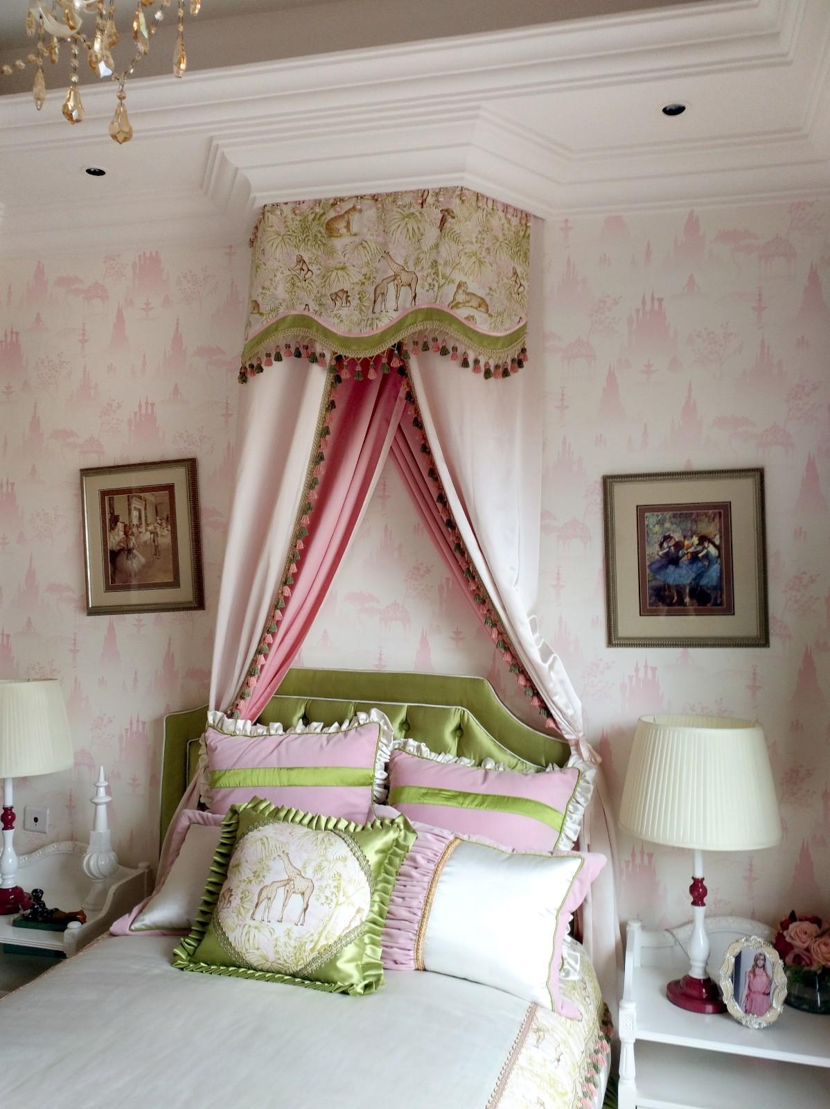 美式卧室背景墙效果图