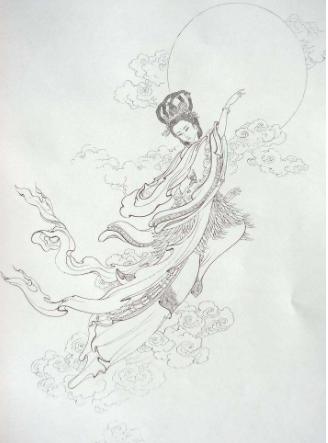 中秋节嫦娥素材简笔画