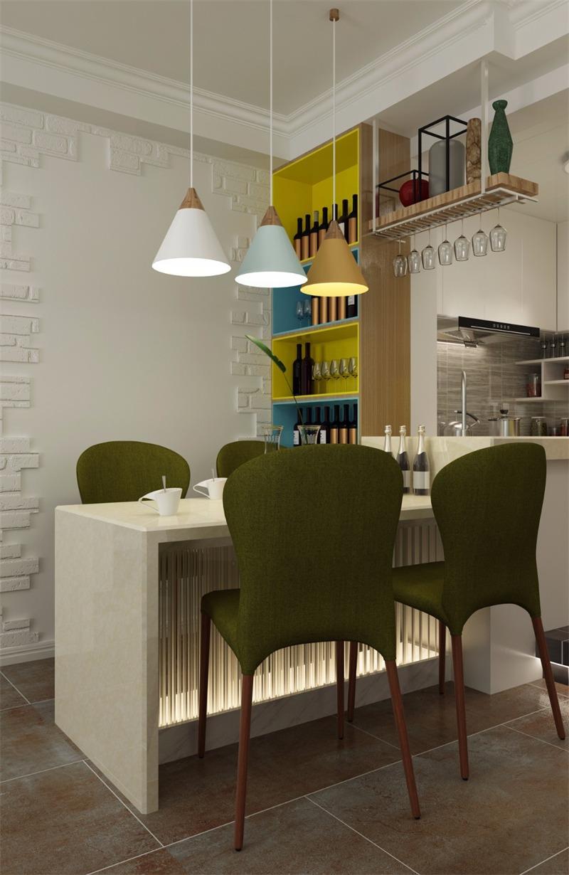 北欧餐厅背景墙效果图
