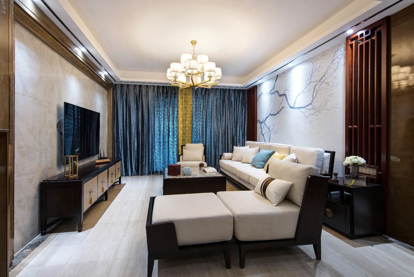 中式客廳吊頂實景圖