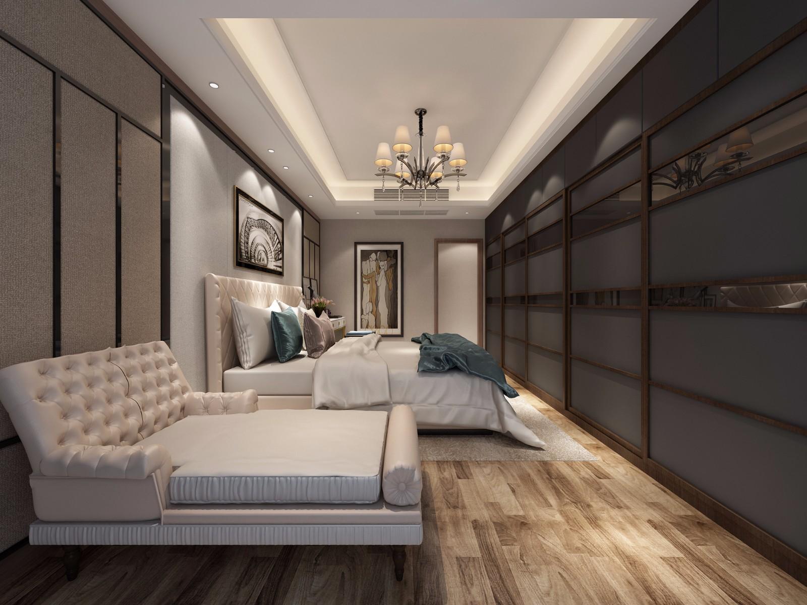 新古典臥室吊頂效果圖