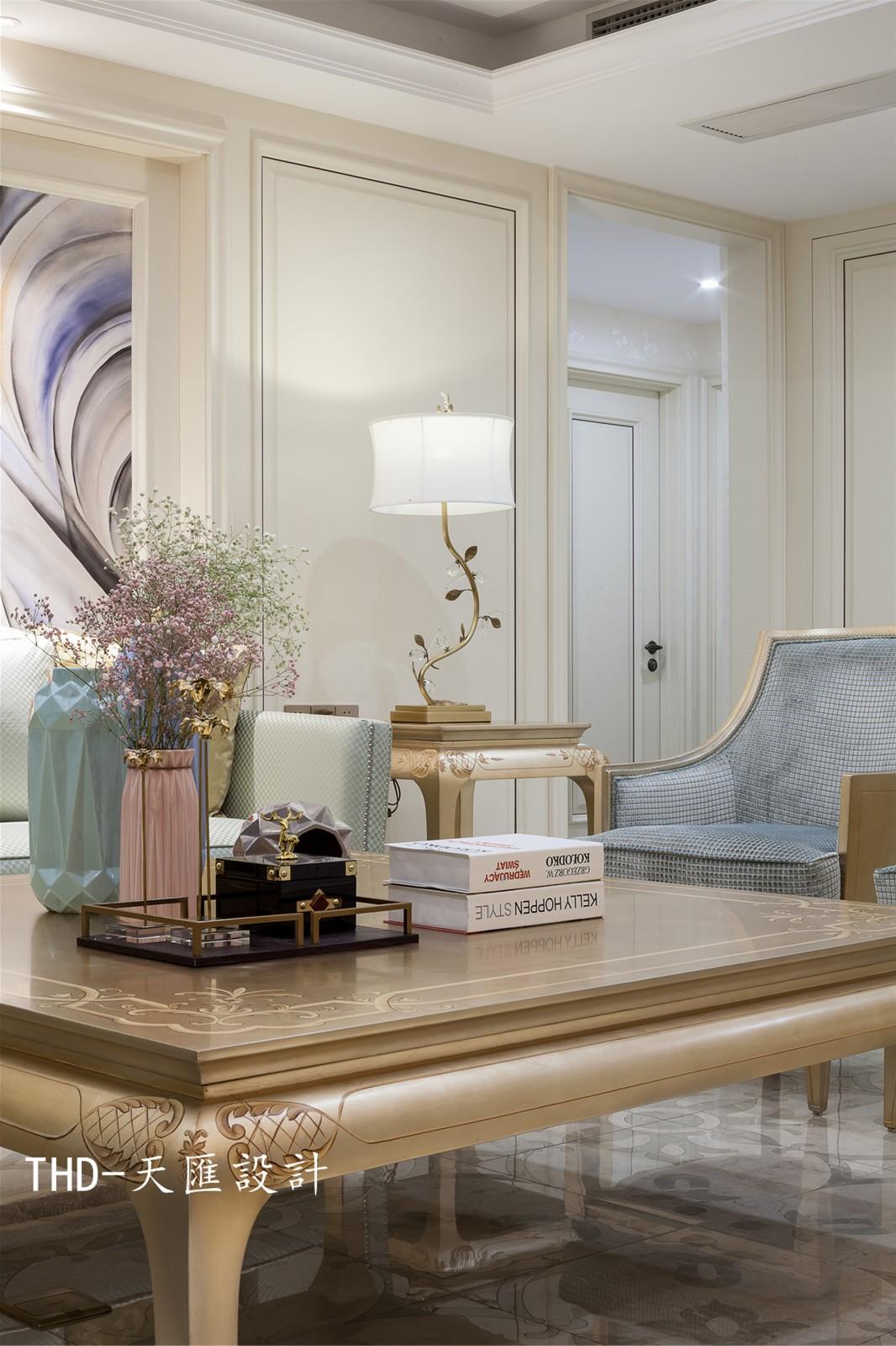 美式客厅背景墙实景图