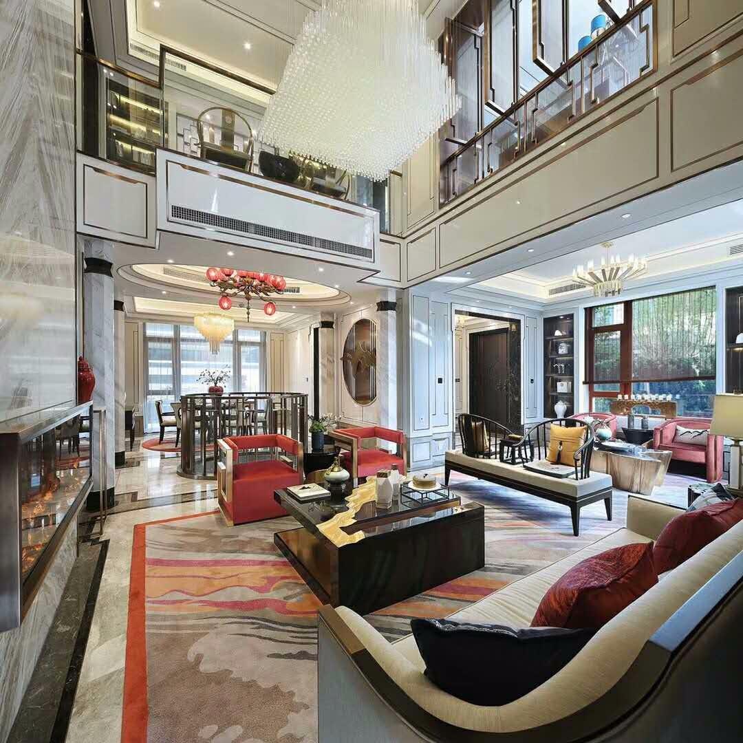 新古典客厅吊顶实景图