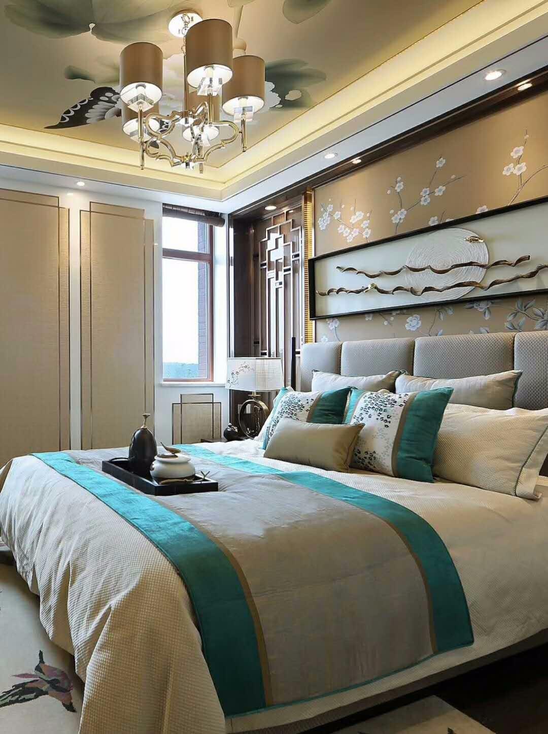 新古典卧室吊顶实景图