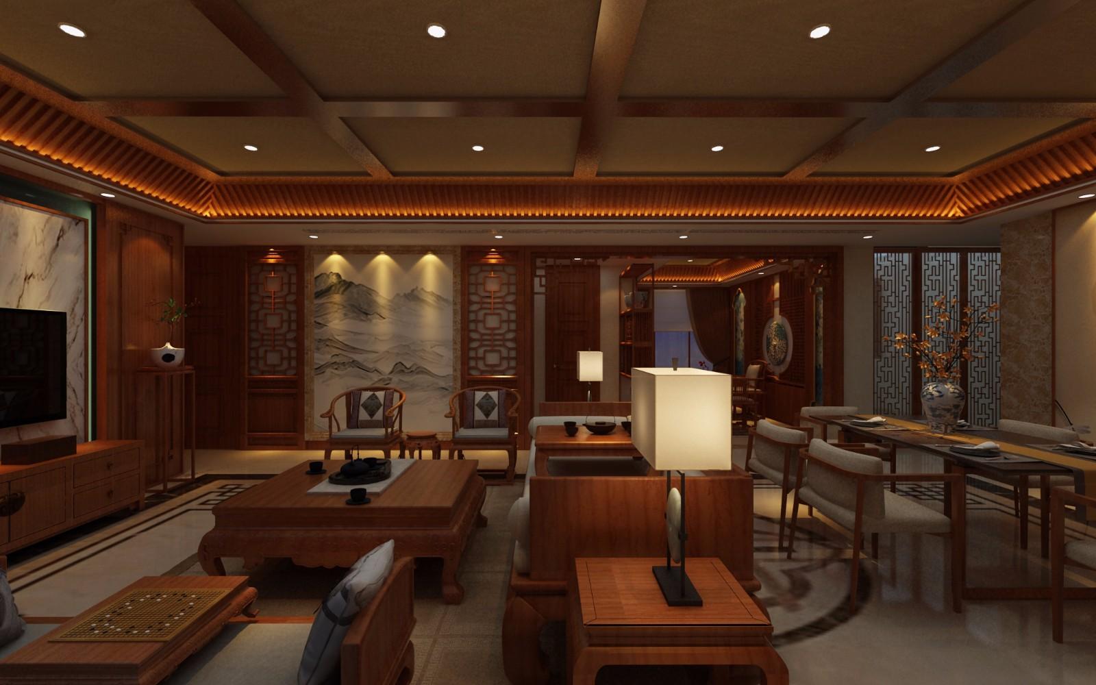 中式客廳其它效果圖