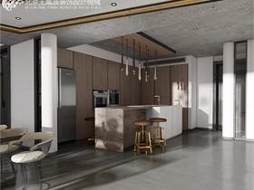 现代厨房吧台效果图