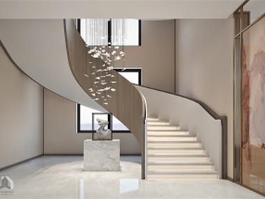 现代客厅楼梯效果图