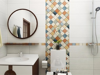 中式卫生间背景墙效果图
