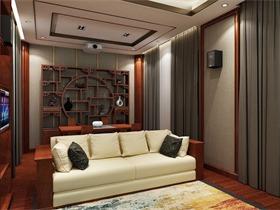 中式视听室吊顶效果图