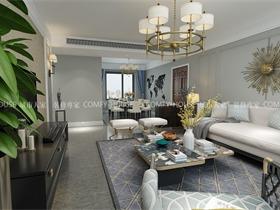 保利海德公馆140平三室两厅轻奢极简设计