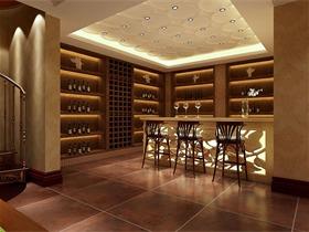 新古典酒窖酒柜效果图