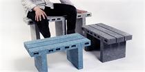 创意纸质家具设计 有纸张的精致像石砖一样的坚硬
