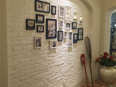 地中海玄关照片墙实景图