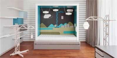 Devoto设计的这个升降屋,让儿童房变得乐趣无穷