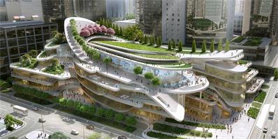 北京国贸中心建筑群步入尾声 屋顶花园将与商场完美融合在一起