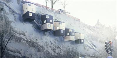 人们非得在地面上盖房子吗?将来没准悬崖边上也能住