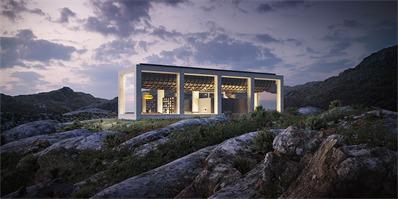 这栋挪威北部的无限之家,屋顶有个大游泳池