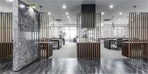 杭州孵化器办公室设计 用不同材料定义空间