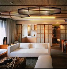 日式客厅吊顶效果图
