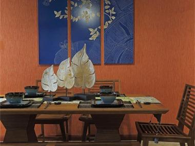 东南亚餐厅背景墙效果图