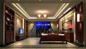 中式客厅窗户效果图