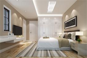 现代卧室衣柜效果图