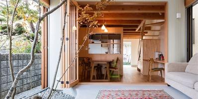 大阪melt住宅:100平米的家中植入明亮庭院,与绿色一起生活