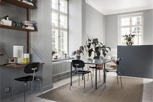 斯德哥尔摩浅灰色公寓 冷静简约的北欧范儿家居