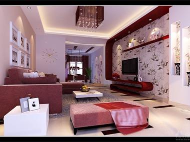 本案是一对年轻夫妇的婚房,营造简洁。自然;喜庆,