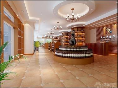 本案是一个专卖红酒的形象店,设计上合理的利用空间,